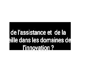 Vous voulez  de l'assistance et  de la veille dans les domaines de l'innovation